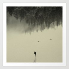 Silent walk Art Print