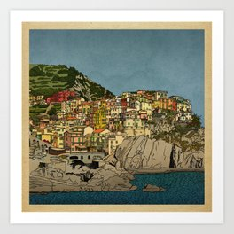 Of Houses and Hills Art Print
