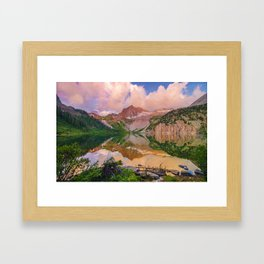 Snowmass Lake Framed Art Print