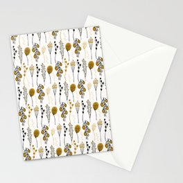 Leaf Seedpod Branch Vector Pattern, Drawn Seamless Background Stationery Cards