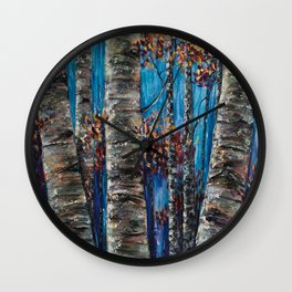 Aspen Forest In The Rocky Mountain Wall Clock
