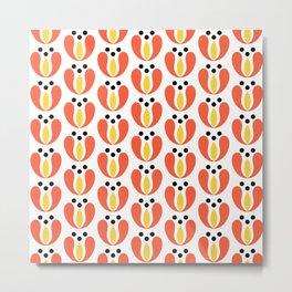 Simple tulip pattern Metal Print
