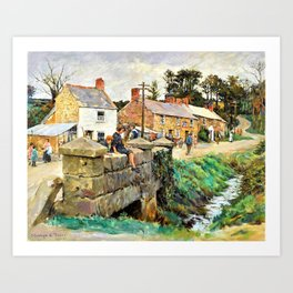 The old Bridge of Relebbus - Stanhope Alexander Forbes Art Print
