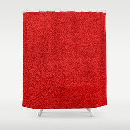 Rose Red Shag pile carpet pattern Shower Curtain