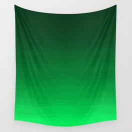 Happy Bright Apple Green Ombre Wall Tapestry