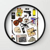 sherlock Wall Clocks featuring Sherlock by Shanti Draws