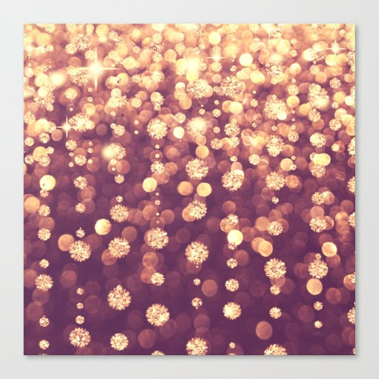 Dazzling Rose Gold Canvas Print