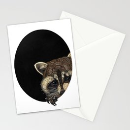 Socially Anxious Raccoon Stationery Cards