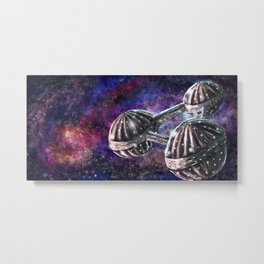 Galaxy Spaceship Metal Print
