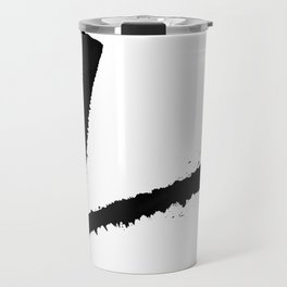 Letter L Ink Monogram Travel Mug