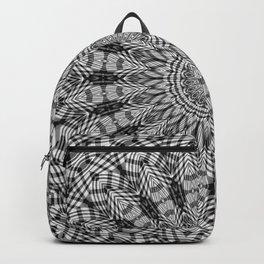 Black and White Dreamcatcher Mandala Pattern Backpack