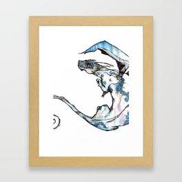 Dragon Blue Framed Art Print