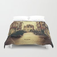 amsterdam Duvet Covers featuring Amsterdam by Pati Designs