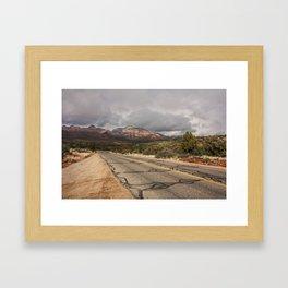 road through Sedona in Winter Framed Art Print