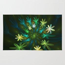 Fantasy Flowers, Fractal Art Rug
