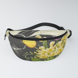 Bunny with Spring Flowers Fanny Pack