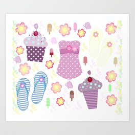 Summer-Celebration Art Print