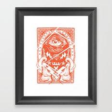 The eye Framed Art Print