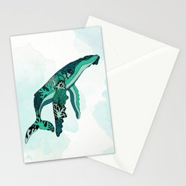 Coral Reef Humpback Whale Stationery Cards