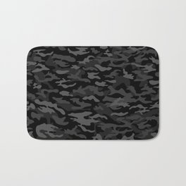 NEW AGE BLACK CAMOUFLAGE IN 4 SHADES OF GRAY Bath Mat