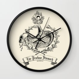 The Profane Stomach Wall Clock