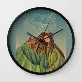 Volcano Love Wall Clock