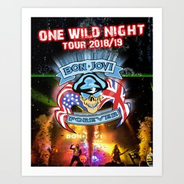 bon jovi one night tour 2019 halim Art Print