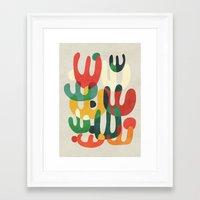 cactus Framed Art Prints featuring Cactus by Picomodi