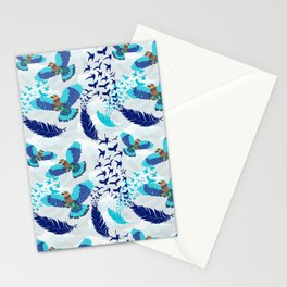 Aerobatics of Indian Roller Bird Stationery Cards