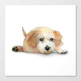 Low Poly Yellow Lab Canvas Print