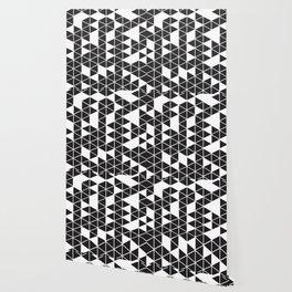 Black triangle pattern Wallpaper