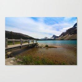 Bow Lake & Mountains Canvas Print