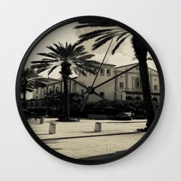 Black and White Spanish Architecture (West Palm Beach) Wall Clock