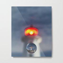 Drop of Glass Metal Print