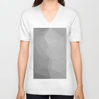 gray pattern V-neck T-shirts featuring Gray by LORNAldt