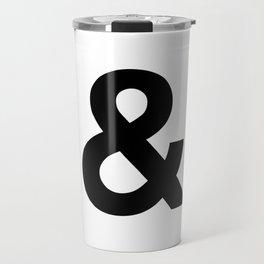 Ampersand Black and White Helvetica Typography Design Poster Home Decor Wall Art Scandinavian Decor Travel Mug