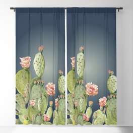 In The Moonlight - Cactus Blackout Curtain
