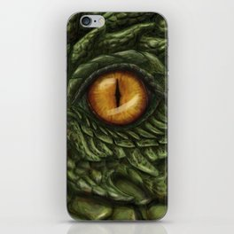 the green dragon iPhone Skin