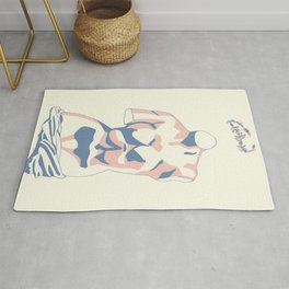 Pastel Venus Greek Statue Abstract Shapes Rug