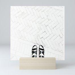 Tiles and toes Mini Art Print
