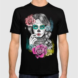 Aaliyah - Day of the Dead T-Shirt