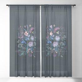 Bees Garden Sheer Curtain