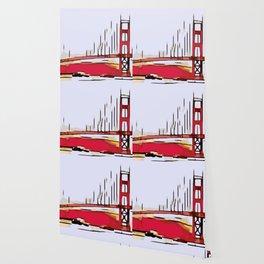drawing Golden Gate bridge Wallpaper