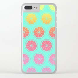 Neon Summer 2 Clear iPhone Case