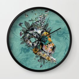 Animal Skull Wall Clock