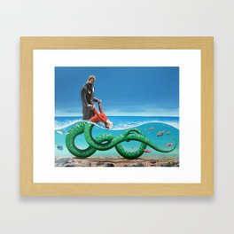 REPTILIAN DANCE Framed Art Print