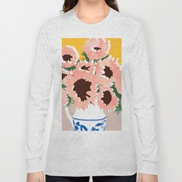 Sunshine On a Cloudy Day #painting #botanical Long Sleeve T-shirt