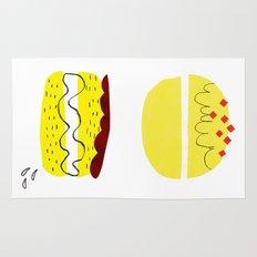 donut vs eclaire Rug