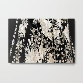 Black and White Flowers by Lika Ramati Metal Print