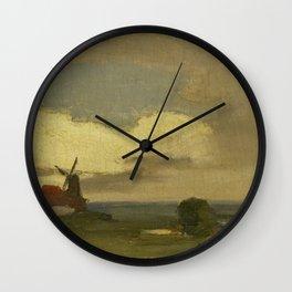 Landschap met de molen van Wijk bij Duurstede, Willem Witsen, 1885 - 1923 Wall Clock